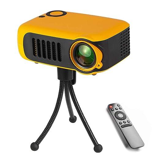 DjfLight Mini proyector portátil, 1080P LCD 50,000 Horas de Vida ...