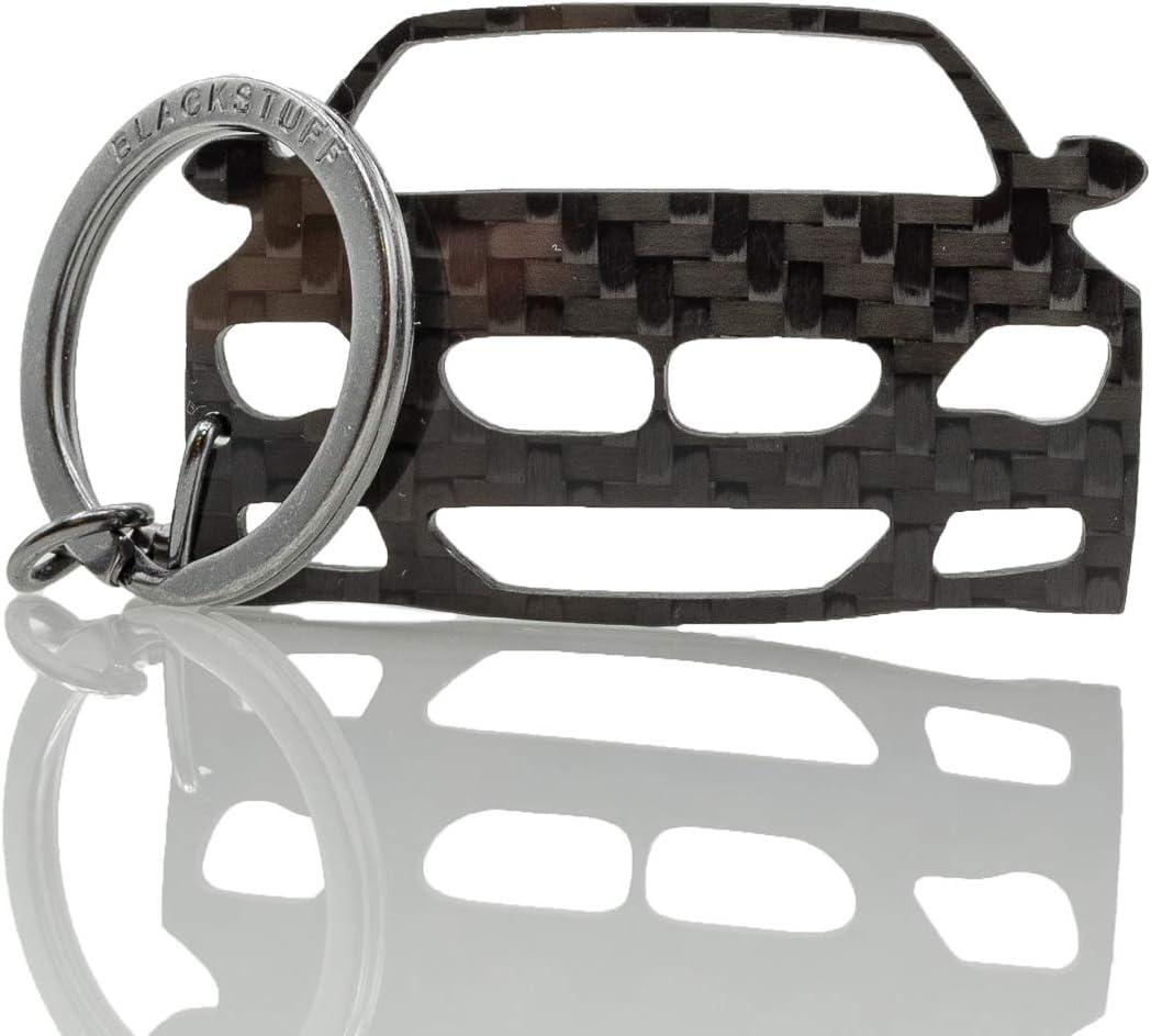 BlackStuff Carbon Fiber Keychain Keyring Ring Holder Compatible with E62 E63 6 Series 630 630i 635 645 650 BS-153