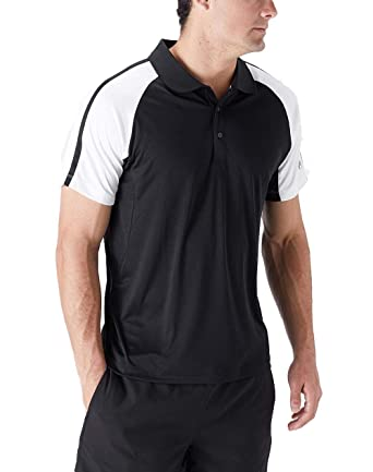 Fila Core Polo para Hombre - Negro/Blanco - Large: Amazon.es: Ropa ...