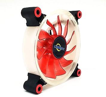 CONISY Aura Serie PC Fan 120mm LED Ventilador Silencioso para Caja de Ordenador (Rojo): Amazon.es: Informática