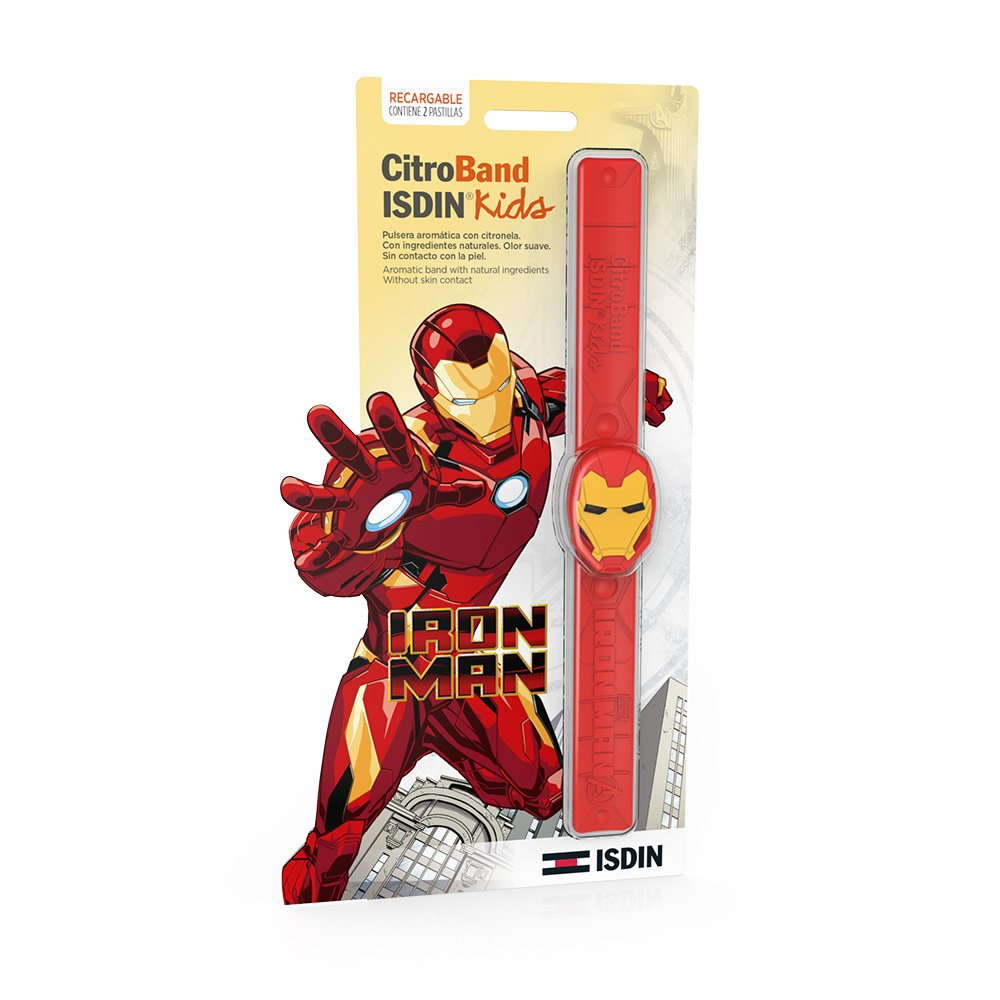 ISDIN CitroBand Kids Pulsera Antimosquitos de Iron Man: Amazon.es ...