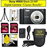 "Sony Cyber-shot DSC-W800 Digital Camera Black,""Classic Bundle"" (2X16GB Bundle)"