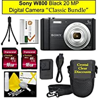 "Sony Cyber-shot DSC-W800 Digital Camera Black,""Classic Bundle"""