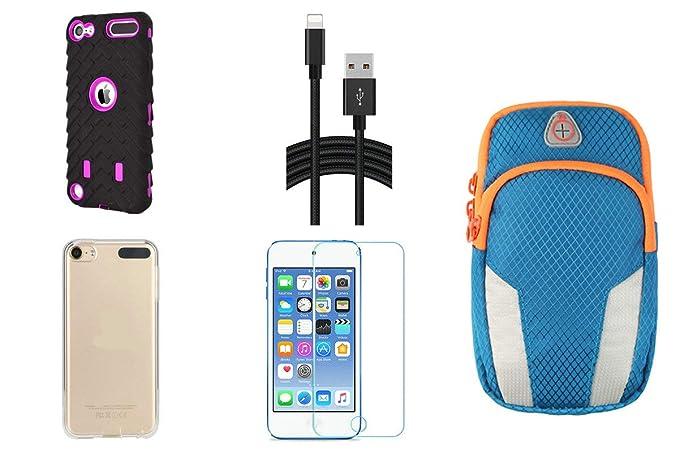 d0e3b98e6f9 Aiboco - Kit de 5 Accesorios para iPod Touch 6/5 (Incluye Funda Protectora