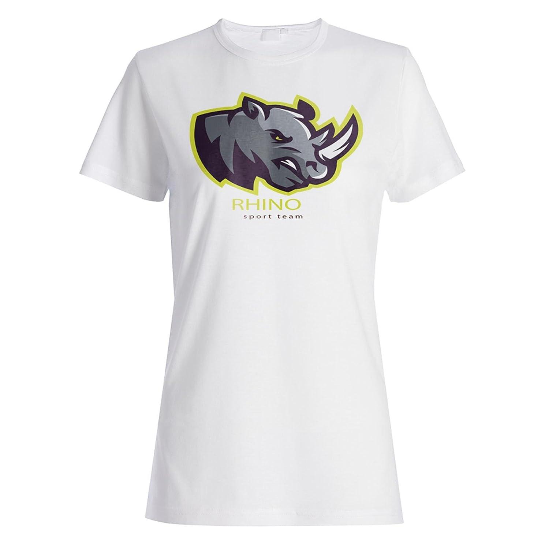 Nashorn-Sport-Team-lustige Krieger-Kunst Damen T-shirt b238f: Amazon.de:  Bekleidung
