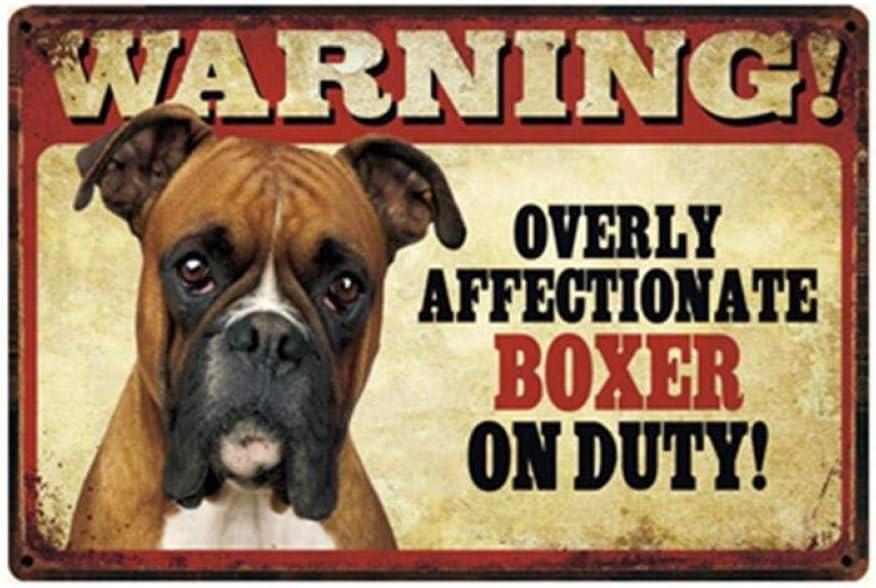 shovv Mascotas Perro Pit Bull Bulldog Chihuahua Boxer Letrero de Metal Cartel de Chapa Decoración para el hogar Bar Arte de la Pared Pintura 20 * 30 CM Tamaño