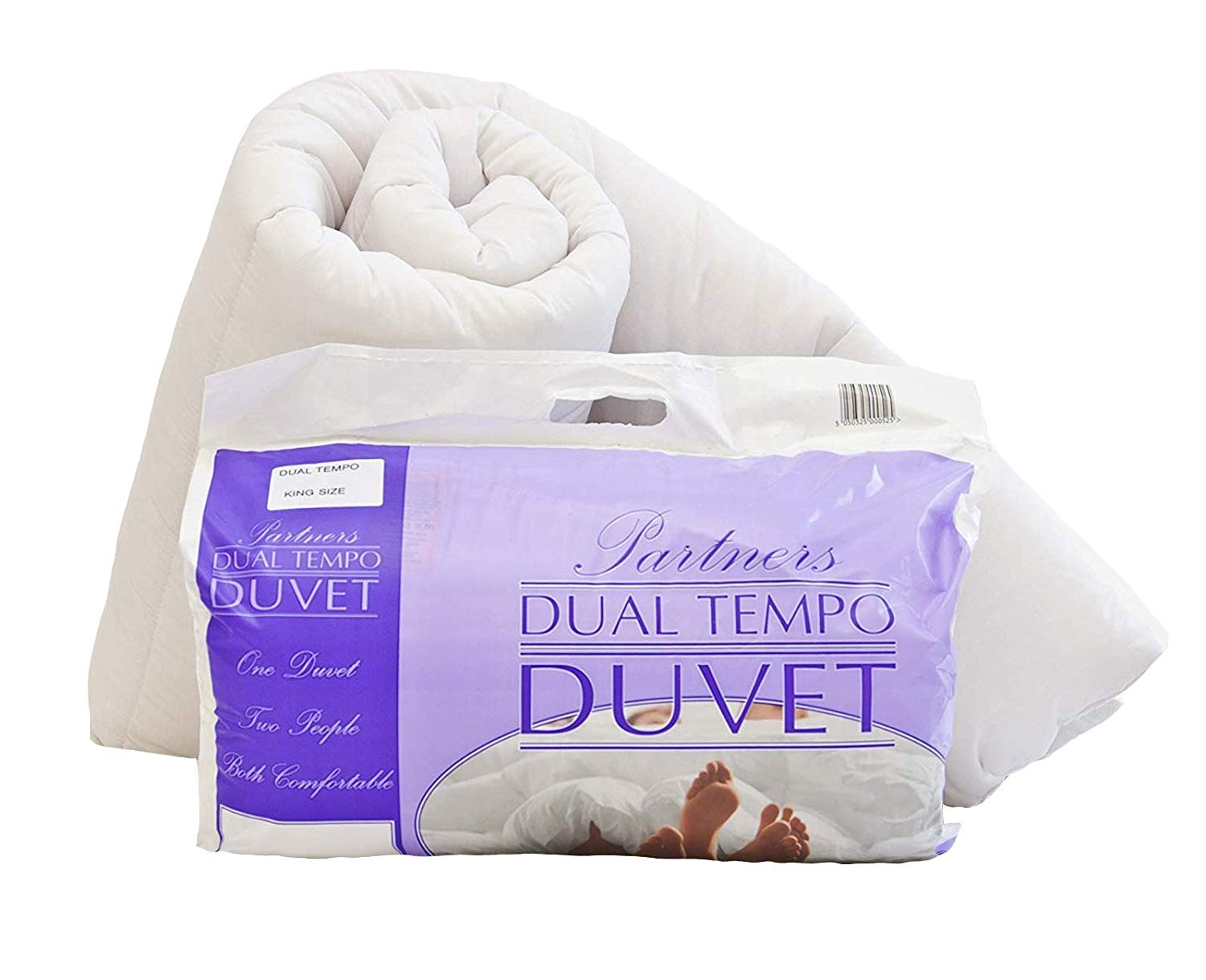 His and Hers Dual Tempo, Half and Half Partners Duvet Quilt - 9 & 4.5 Tog - DOUBLE - Made in the UK UK Care Direct