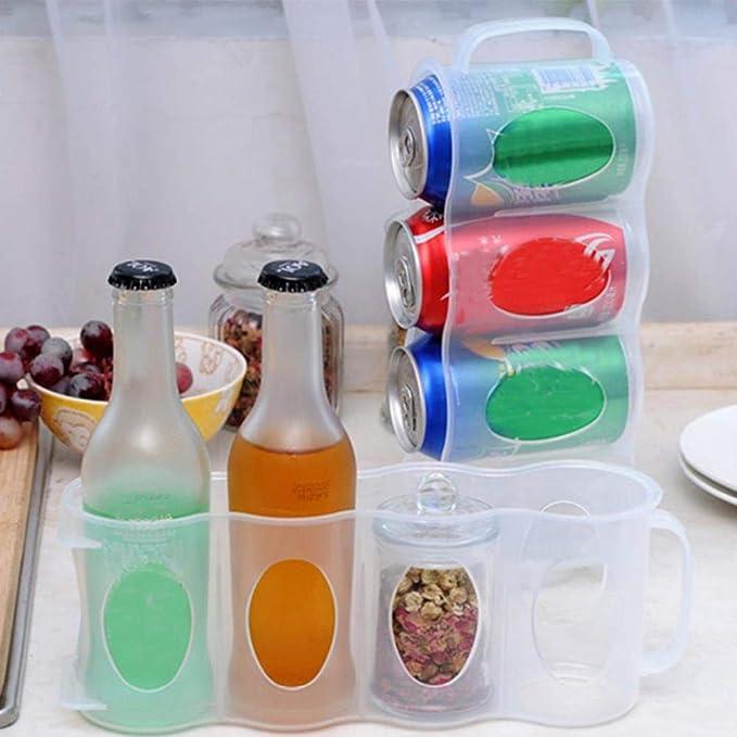 3pcs Inicio Organizador de refrigerador de cocina Bandeja de ...