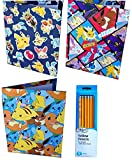 Pokemon Folders Back to School Folders and Pencil Set - Pokemon School Supplies Pokémon