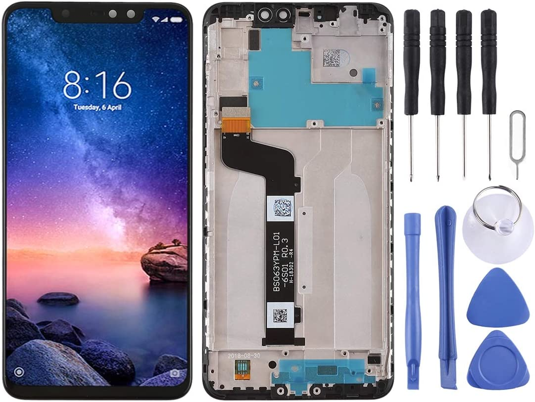 Color : Black LIYUNSHU LCD Screen and Digitizer Full Assembly with Frame for Xiaomi Redmi Note 6 Pro Black
