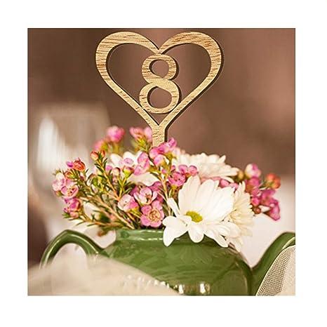 Tabelle Anzahl Karte Holz Hochzeit Tisch Karte Blume Sitz Anzahl Karte Von 1 Bis 10 Dekoration Digital Topper