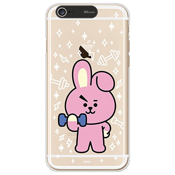 various colors 65d03 b8905 iPhone 6Plus Case/iPhone 6S Plus Case, BT21 BTS Official Light Up Soft  Clear Case (Cooky)