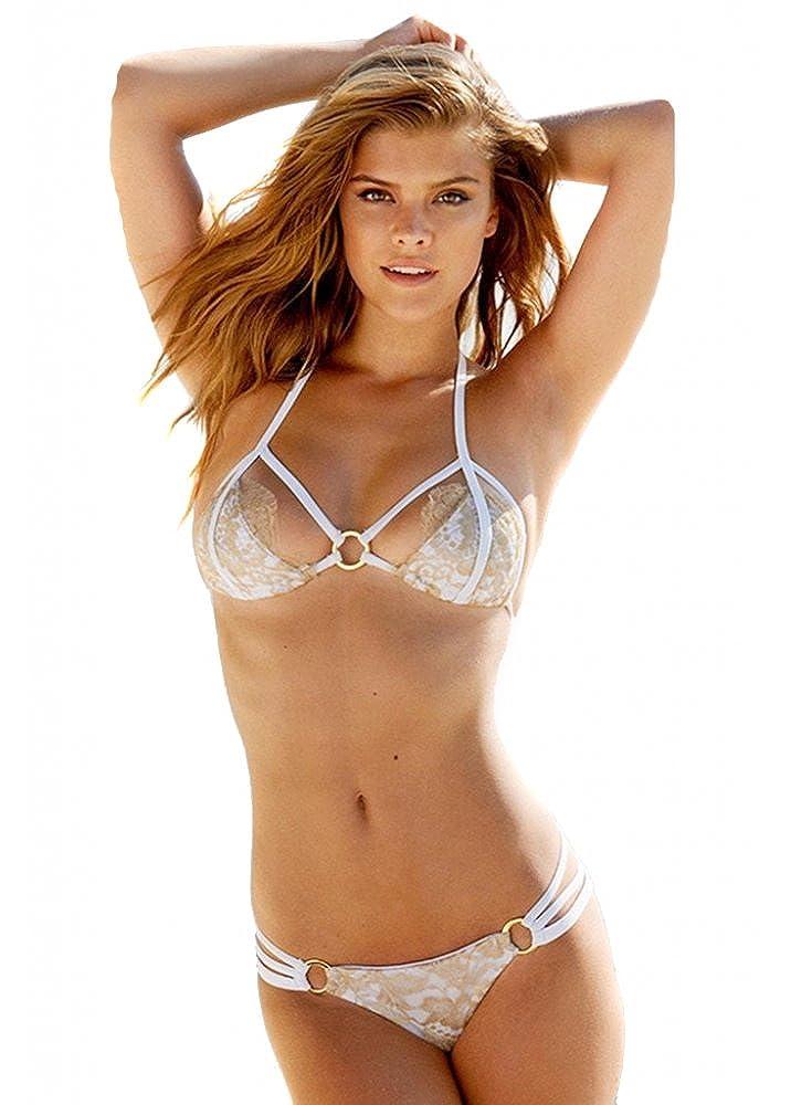 c64224f97a Top1: Beach Bunny Swimwear Gunpowder & Lace Bikini FULL SET in White