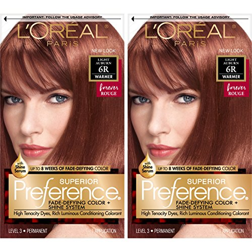 L'Oreal Paris Superior Preference Permanent Hair Color, 6r L