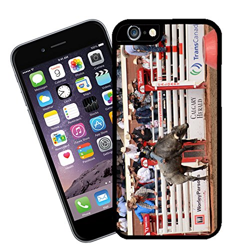 Bull Riding at Calgary Stampede in Canada 02 iPhone case - This cover will fit Apple model iPhone 6s (not 6 plus) - By Eclipse Gift Ideas