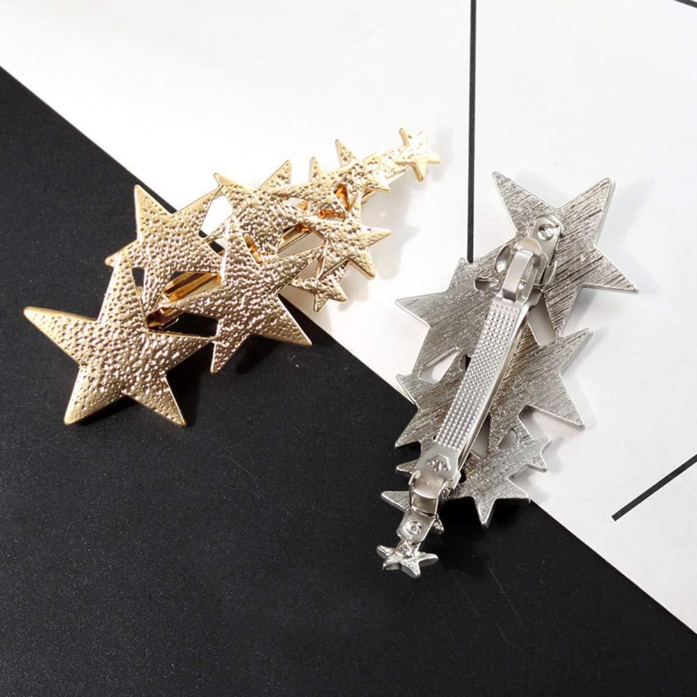 Vektenxi /Mode Mehrere Sterne Haarspange Haarnadel Frauen Haarspange Party Headwear Geschenk Ornamente Hohe Qualit/ät