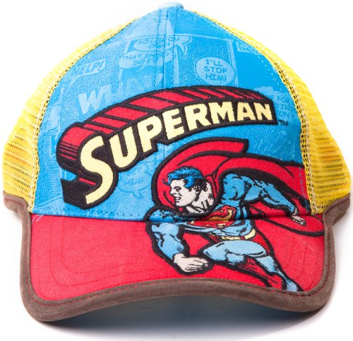 Superman Gorra de béisbol Original DC Comics Gorro Trucker Style Pantalla größenverstellbar