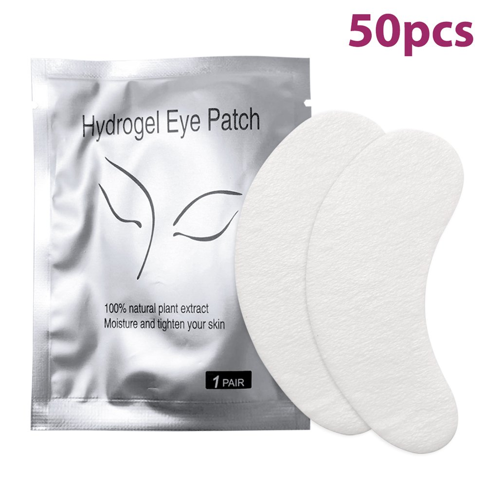 Eyelash Pads, Aulola® 50 pairs of Eyelash Lash Extension Under Eye Gel Pads Lint Free Eye Patches