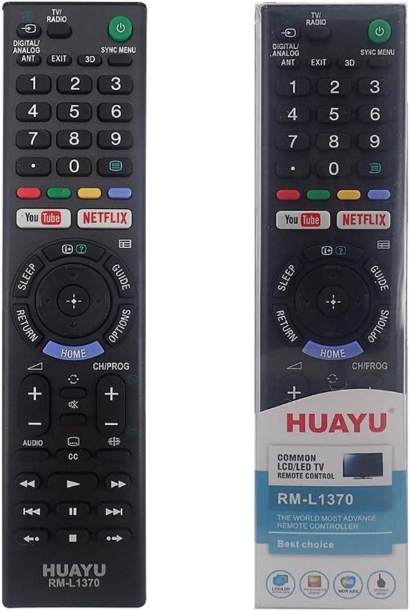 Mando a Distancia para Sony LCD/LED / 3D TV (Botones Youtube y Netflix): Amazon.es: Electrónica