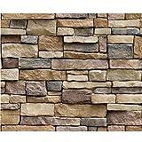 Psunrise Decoración Wall Paper Brick Stone Rustic Effect Self-Adhesive Wall Sticker Home Decor