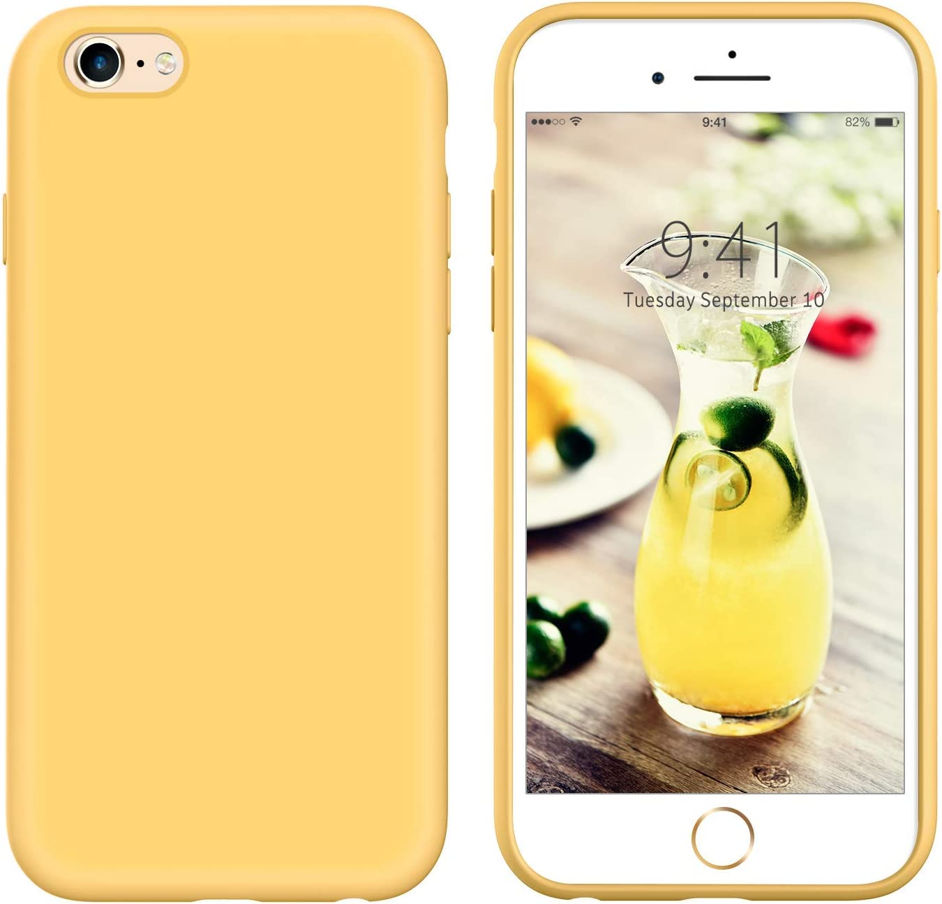 YINLAI iPhone 6S Plus Case iPhone 6 Plus Case Liquid Silicone Soft Gel Rubber Cover Slim Shockproof Protective Grip Phone Cases for iPhone 6S ...