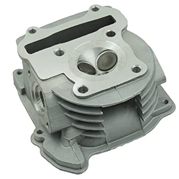 Glixal ATMT1-012 GY6 50cc to 100cc Scooter Engine 50mm Cylinder Head Assy with 64mm Valves for 139QMB 139QMA Chinese Moped ATV Go Kart Quad Non EGR Type