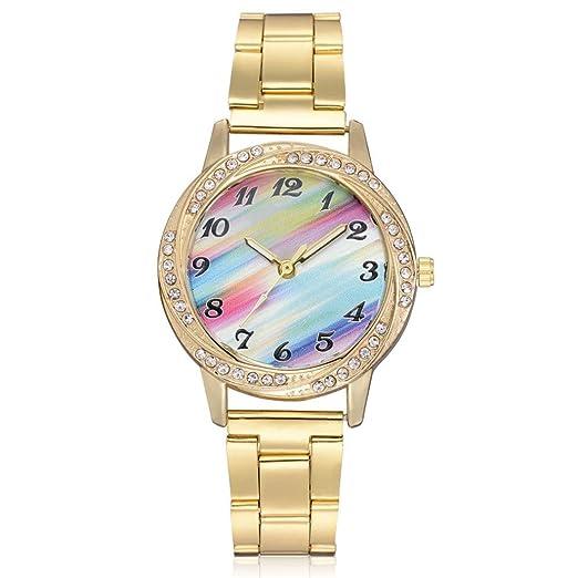 Relojes de Mujer Dorado 2018 Elegantes Pulsera de Diamantes Imitación por ESAILQ