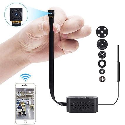 Cámara espía, PANNOVO WiFi Mini cámara Oculta Cámara de 1080P niñera con detección de Movimiento
