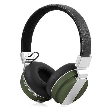 Geekria E05 plegable Over-Ear Auriculares inalámbricos con micrófono integrado, tarjeta SD, radio