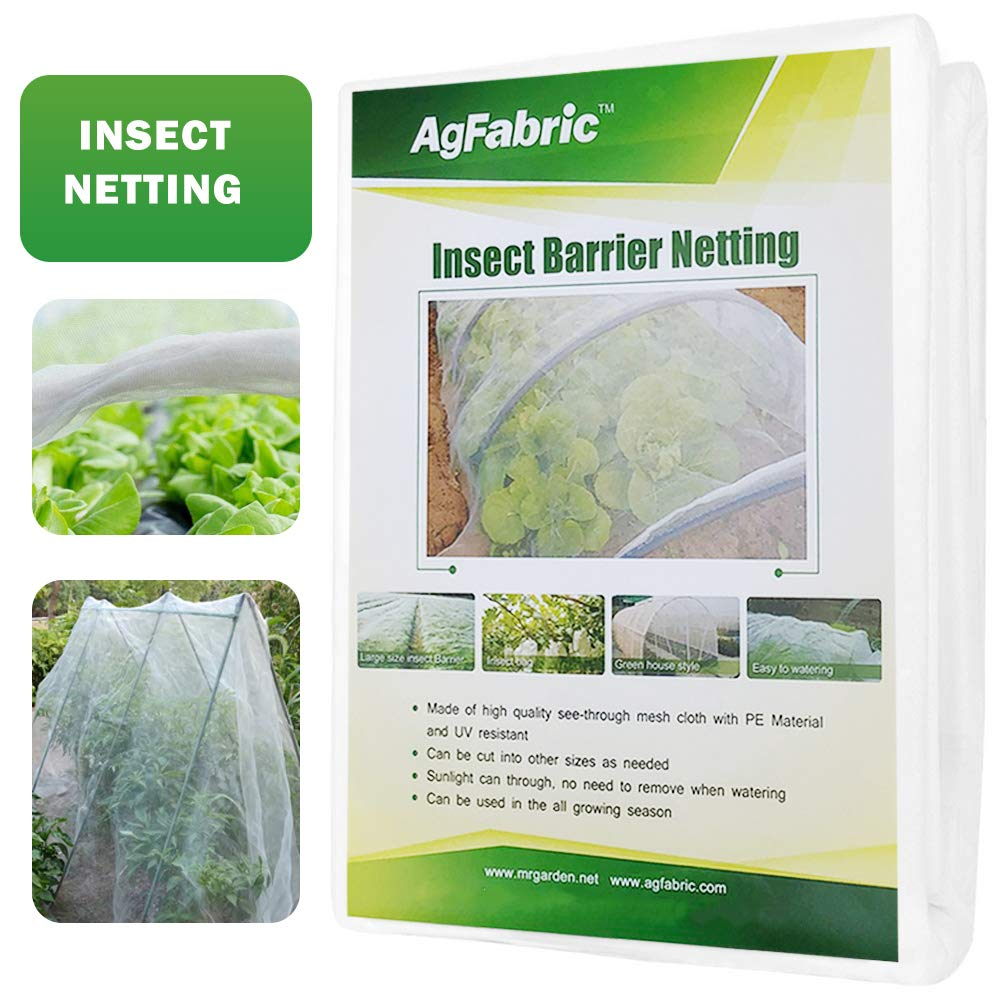 Agfabric 6.5 x50 Bug Net Insect Bird Netting, Garden Netting Protect Plants Fruits Flowers Against Bugs, Birds Squirrels