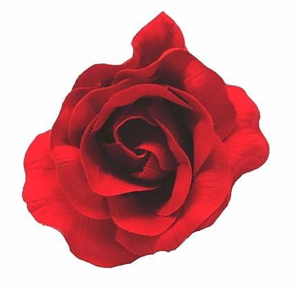 Pour Les Cheveux Un Flamenco Style Fleur En Tissu Rouge Fonce