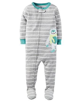 Image Unavailable. Image not available for. Color  Carter s Boy s Size 4T  YETI Abominable Snowman Polyester Footed Pajamas 1b6a9f49b