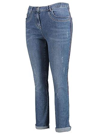 3979b0ecf8219 SAMOON Damen Jeans Betty 7/8 Länge Plus Size: Amazon.de: Bekleidung