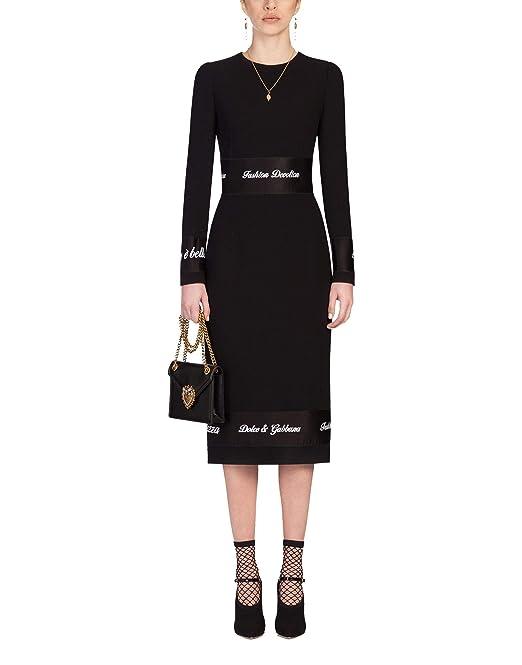 Dolce   Gabbana - Vestito - Donna Nero Dimensione del Fuoco 50 ... dd57cd8e164
