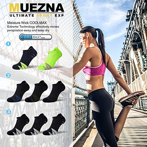 Compression Athletic No Show Running Socks with CoolMax Cushion for Men & Women …