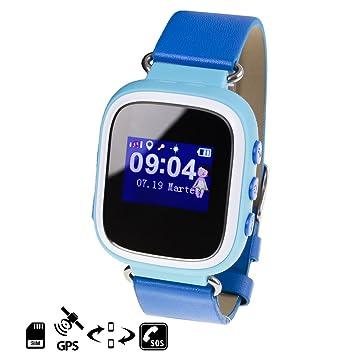 DAM - Smartwatch Gps Special Kids Azul. Pantalla OLED. Aviso de llamadas entrantes y alarmas del teléfono móvil. Función de disparador remoto de la ...