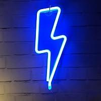 QiaoFei Neon Lightning Cloud Maan Ster Tekenen Licht, LED Lightning Art Decoratieve Marquee Teken - Wanddecoratie voor…