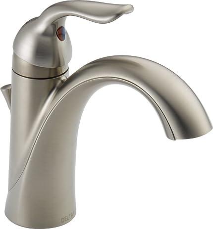 delta 538ssmpudst lahara single handle centerset bathroom faucet stainless
