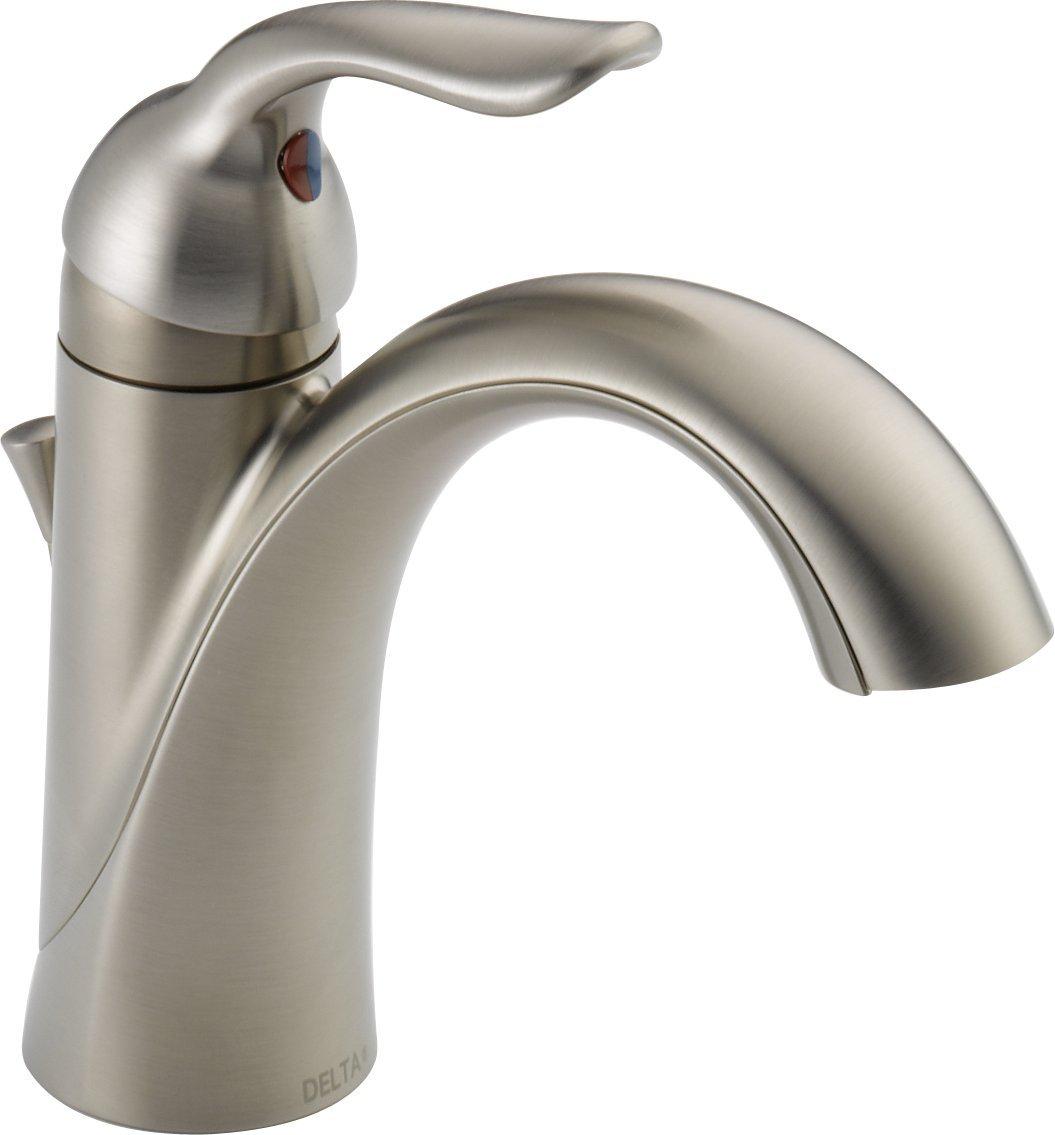 Delta 538-SSMPU-DST Lahara Single Handle Centerset Bathroom Faucet, Stainless