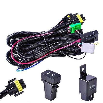 Amazon.com: Ricoy 12V 40A H11 Fog Light Wiring Harness Sockets Wire