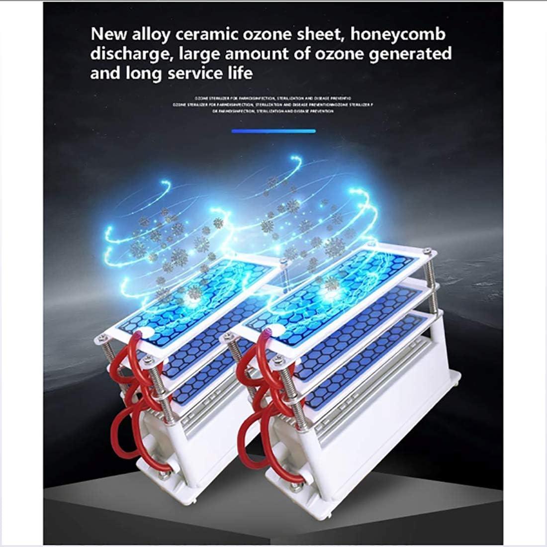 Comfort Acero Inoxidable Ozonador Profesional Desodorante y Esterilizador 50g Limpiador Comercial purificador de Aire esterilizador Profesional MOKY Generador de ozono
