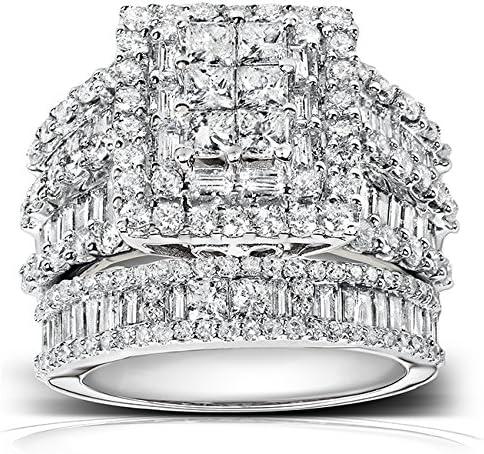 Kobelli Diamond Engagement Ring and Wedding Band Set 2 3/5 carats (ctw) in 14K White Gold