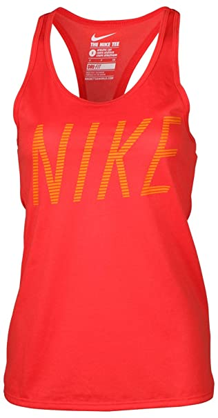 7182f7bfa116e Amazon.com  Nike Women s Dri-Fit Legend Reduct Training Tank Top-Red ...