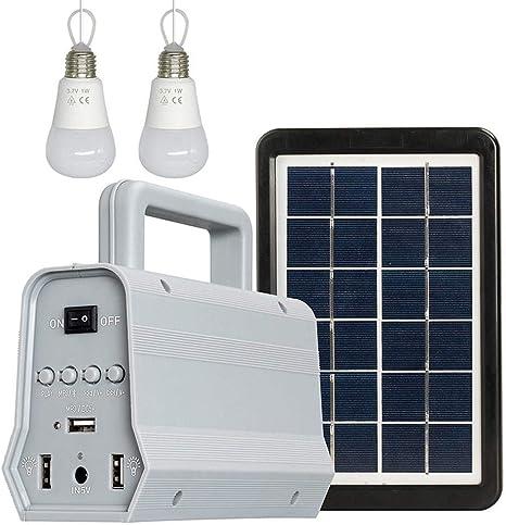 EEJJAAYY Lámparas solares,Solar Al Aire Libre Luz De Camping Bluetooth Altavoz Bombilla ABS Shell Jardín Luz Turismo Fiesta Sistema De Iluminación: Amazon.es: Hogar