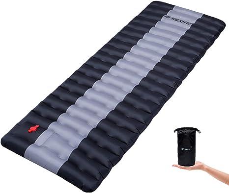 Double Self Inflating Pad Sleeping Mattress Air Bed Camping Hiking Mat Thicken 4