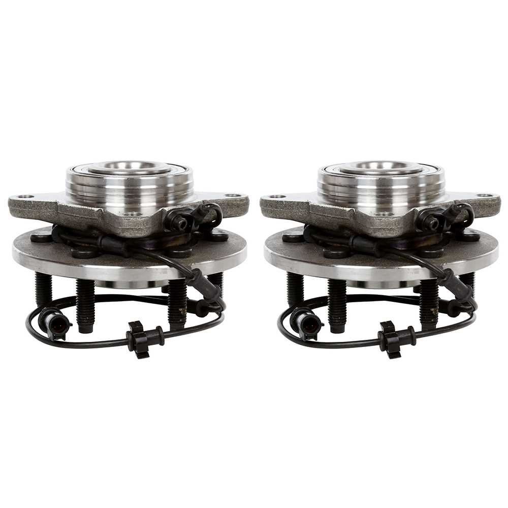 Prime Choice Auto Parts HB615044PR Two Front Wheel Hub Bearing Assembly Pair Set For Left Driver and Right Passenger