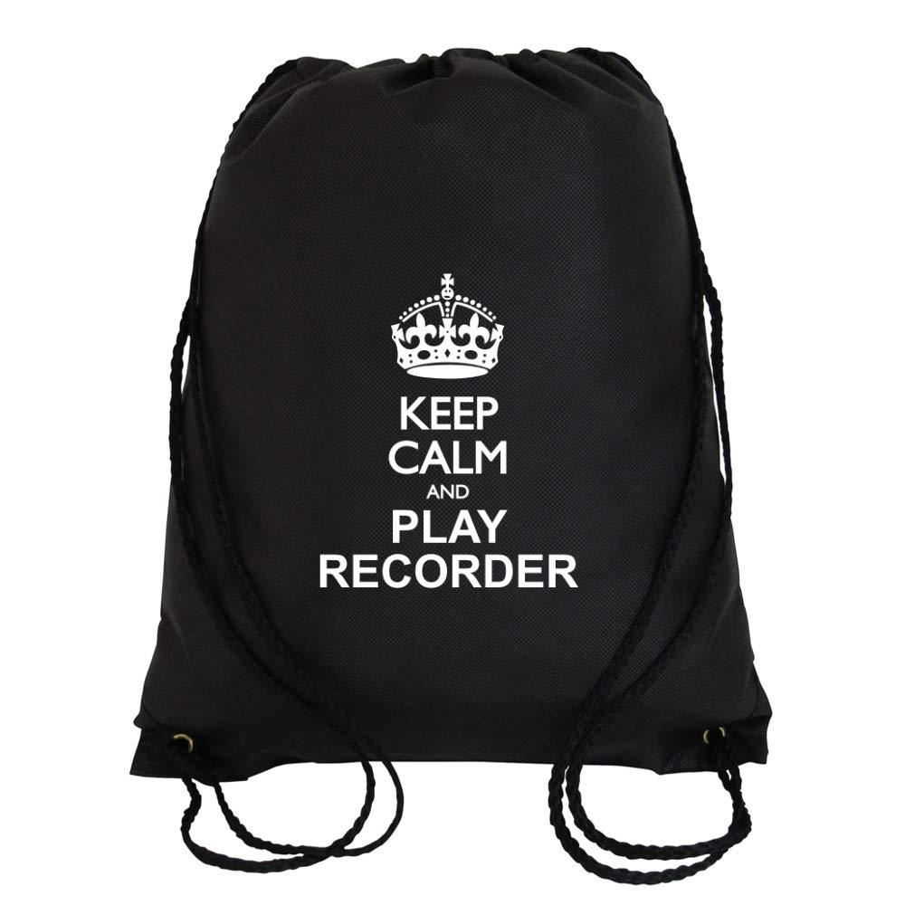 Idakoos Keep Calm and Play Recorder - Instruments De Musique - Sac À Cordon