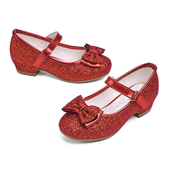 red flower girl shoes