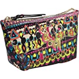 The SAK Sakroots Medium Cosmetic Case,Neon One World,One Size, Bags Central