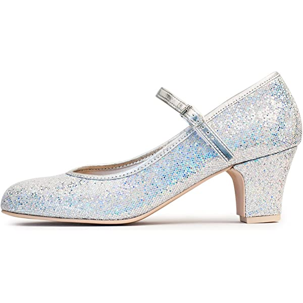 """Ladies Multi Glitter Character Stage Showtime Dance Shoes 2/"""" Heel By Katz"""